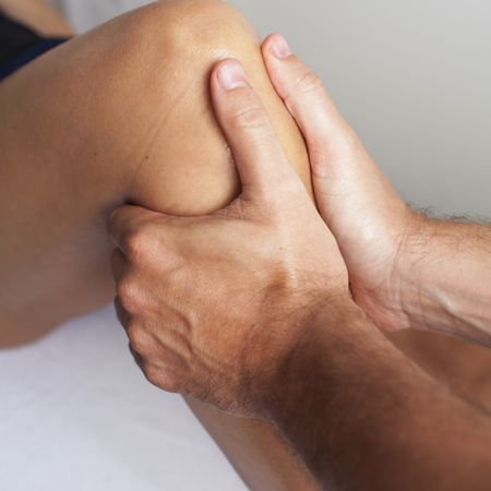 Physiotherapy Knee massage