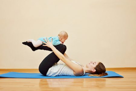 mother and baby exercise -physiotherapy
